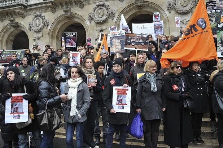 Marche contre la fourrure 2010. Présence de Jérémy Bizet